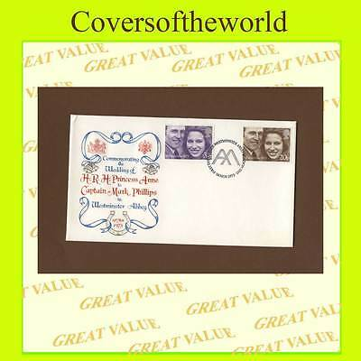G.B. 1973 Royal Wedding set on Stuart, U/A First Day Cover, Westminister Abbey