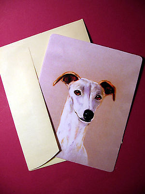 """Whippet"" 1- Dog Greeting Card - Blank Note Card - sku# 66"