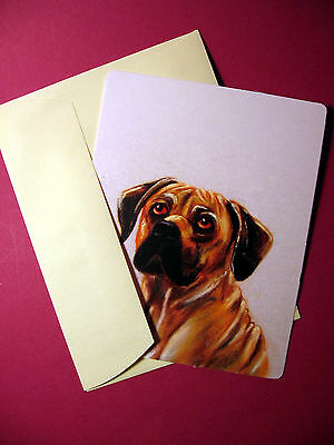 """Rhodesian Ridgeback"" 1 - Dog Greeting Card - Blank Note Card - sku# 62"