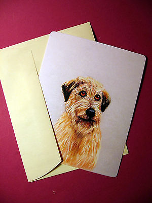 """Irish Wolfhound"" 1 - Dog Greeting Card - Blank Note Card - sku# 59"