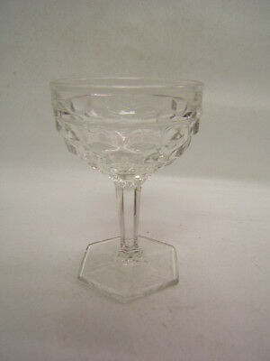 """Fostoria American 4 Hex Footed Goblets 4 3/4"""" Excellent"""