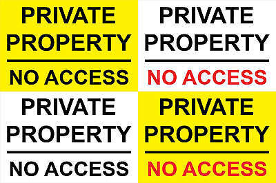 Private Property No Access Sticker Sign - Any Size (S121)