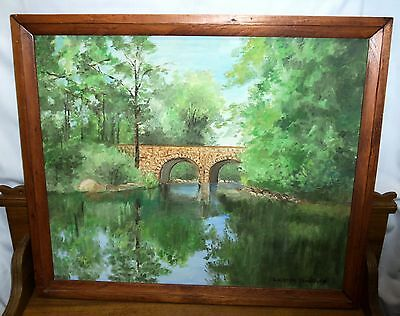 Oil Painting On Panel - Stone Bridge Over Mohoning Creek - Lorraine Troutman