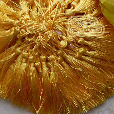Gold Yellow 12cm Tassel Craft Sewing Curtains Trimming Embellishment T11