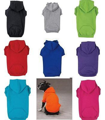 Dog Pet Puppy Hoodie Hooded Sweatshirt Shirt Sweater Winter Clothes Apparel NEW