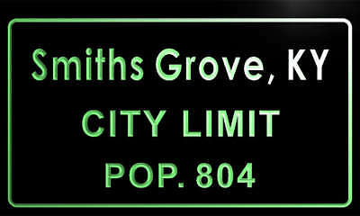 t80676-g Smiths Grove city, KY City Limit Pop 804 Indoor Neon sign
