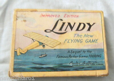 1927 Charles A. Lindbergh Flying Card Game - Parker Brothers