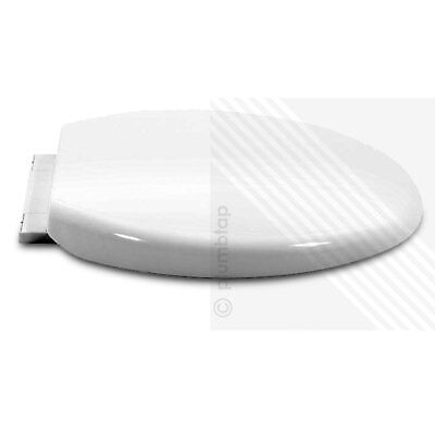 Luxury Soft Close Heavy Duty White Oval Toilet Seat With Top Fixing Hinges