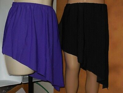 NWT Dance Skirt Asymmetrical Pointed Spandex Lyrical Contemporary many colors
