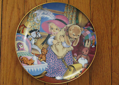 "Carol Lawson Franklin Porcelain Collector's Plate ""Playing Dress Up"" 1986"