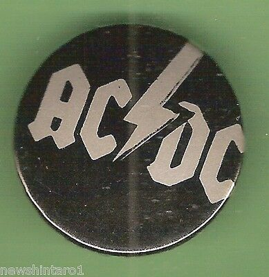 #C. TIN BADGE - AC DC MUSIC BAND, 23mm