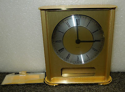German Quartz Small Mantel Clock With Engraving Plate