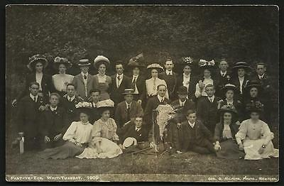 Pant yr Eos. Whit Tuesday Group 1909 by Geo. G. Milford, Photo., Newport.