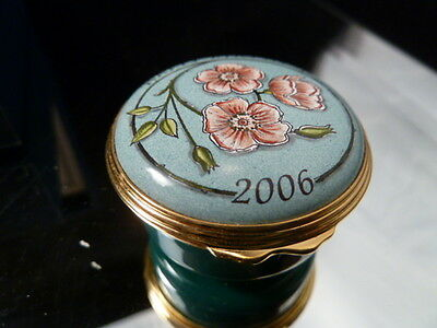 """happy Birthday""  English Halcyon Days Enameled Box   New    Pefect Gift !"