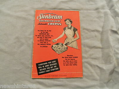 Sunbeam Electric Frypan  Booklet