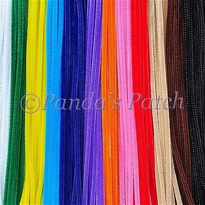 "Chenille Craft Stems Pipe Cleaners 12"" 30cm 25 50 100 200pk Free 1st Class Post"