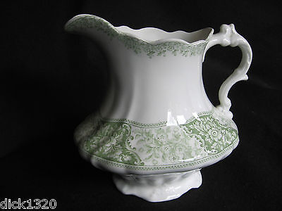 "LARGE VICTORIAN 8"" HIGH 'EMERALD' TOILETTE JUG Henry Alcock,Cobridge c.1890's"
