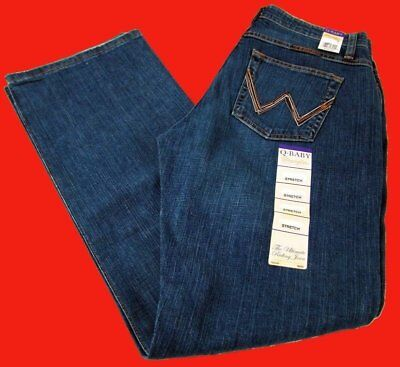 Womens Wrangler Q-Baby Mid Rise Boot Cut Tuff Buck Jeans WRQ20TB Choose Size