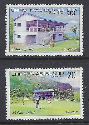1980 Christmas Island 25 Years Of Golf Fine Mint Mnh/muh Set Of 2