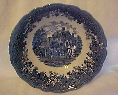 MERRIE ENGLAND J & G MEAKIN STAFFORDSHIRE BLUE & WHITE SCALLOP VEGETABLE BOWL