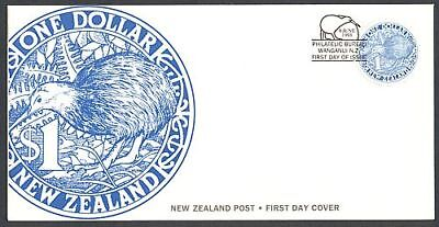 New Zealand Fdc 1993 Round Kiwi Blue