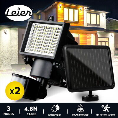 COB LED Solar Sensor Light Motion Security Light Detection Garden FLood