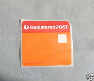 #d4. Australia Post Blank Registered Post Label, Old Type