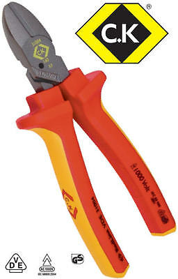 CK COMBICUTTER 1 160mm Redline VDE Side Wire/Cable Screw Cutter Plier 431004