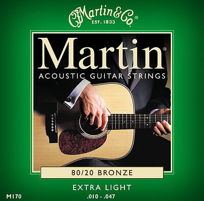 Martin Bronze Acoustic Guitar Strings Ex light 10 - 47 Cheapest On Ebay ( LOOK )
