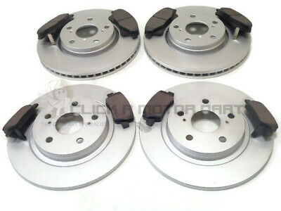 Toyota Avensis 1.6 1.8 2.0 D4D 2009-2013 Front & Rear Brake Discs And Pads Set