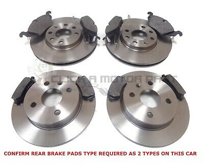 VAUXHALL ASTRA G MK4 1.8 16V SXi FRONT AND REAR BRAKE DISCS & PADS 4STUD (CHECK)