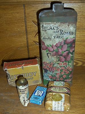 Vintage New Old Stock - Lifebuoy Bee Flower Brand Soap Lilacs Roses Talc Powder