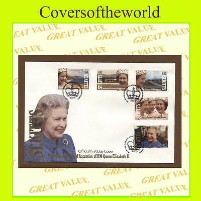 St. Kitts 1992 QEII Accession set on First Day Cover