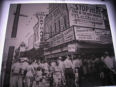 1942 NATHANS FAMOUS Hot Dog Coney Island Brooklyn Photo 8X10 Modern Reprint