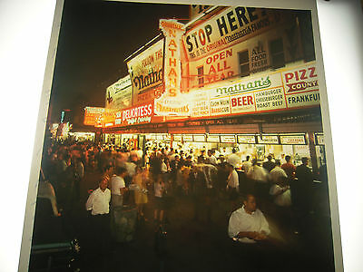 1966 Nathans Famous hot dog Coney Island Brooklyn NYC Photo 8X10 Modern Reprint