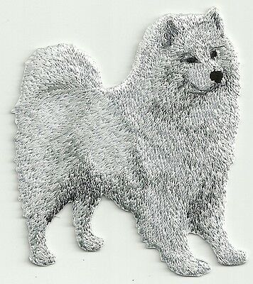 """2 3/4"""" x 3 1/8"""" Samoyed Dog Breed Embroidery Applique Patch"""