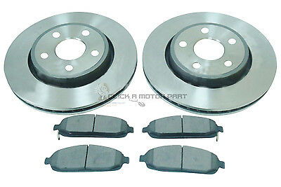 Jeep Grand Cherokee 3.0 Crd 4.7 5.7  6.1 2005-2010 Front 2 Brake Discs And Pads