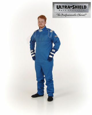 ULT 30033 Blue Large Single Layer 1pc Race Driving Fire Suit SFI Rated 3.2A/1