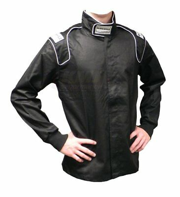 ULT 30131 Black Large Single Layer Race Driving Fire Suit Jacket SFI 3.2A/1