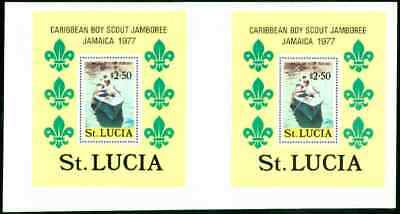 St. Lucia 1977 Scout Jamboree $2.50 SS proof PAIR