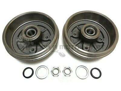 Peugeot 206 1998-2009 Rear 2 Brake Drums + Fitted 2 Wheel Bearings No Abs Only