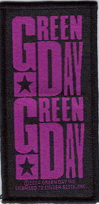 Green Day Purple Woven Patch !