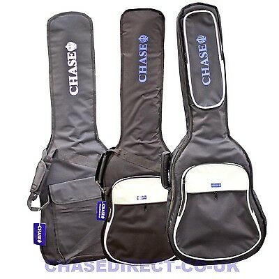 Chase  5 10 20 mm Padded Electric Acoustic Classical Bass Guitar Bag Gig Case