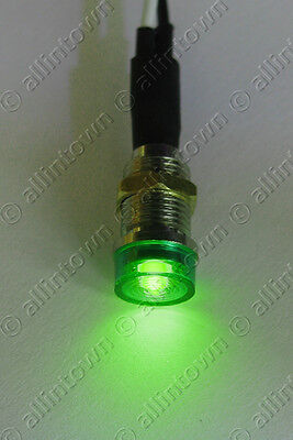 Green Led 12V Pilot Dash Indicator Light Lamp Turn Signal Warning Toggle Lights