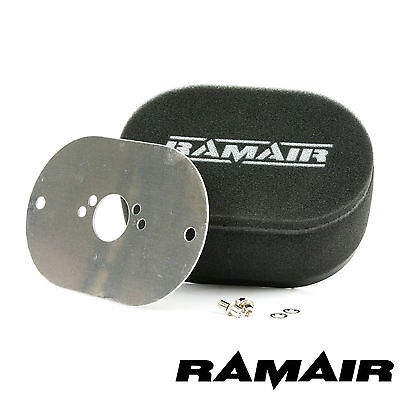 RAMAIR Carb Air Filters With Baseplate Weber 32//34 DFT 25mm Bolt On
