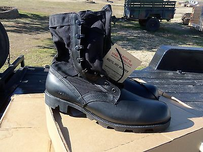 SIZE 12.5 N BLACK  JUNGLE BOOTS  MILITARY  SURPLUS SPIKE PROTECTED NEW OLD STOCK