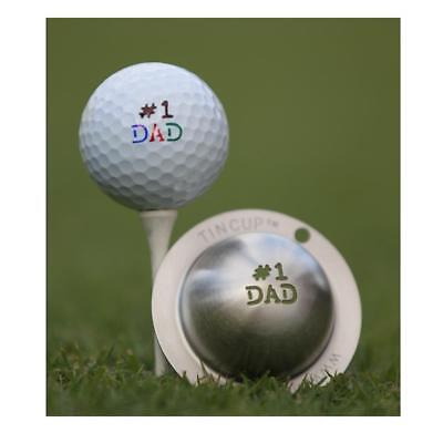 Tin Cup Golf Ball Marking System (Number 1 Dad)