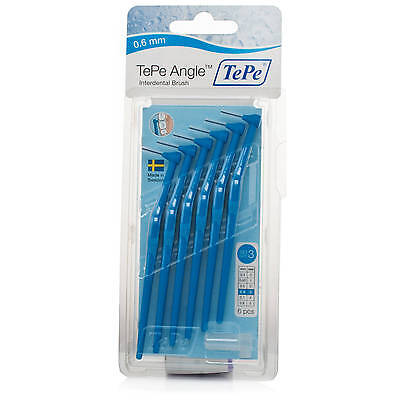 Tepe Angle Brush 0.6mm BLUE (6 brushes per pack) - Fast Shipping