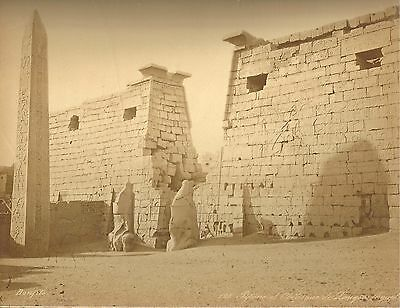 1860's Photo Of Ancient Egyptian Temple At Luxor By Felix Bonfils