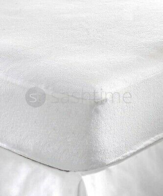 Waterproof Terry Towelling Mattress Protector Bed Cover Fitted Sheet All Sizes